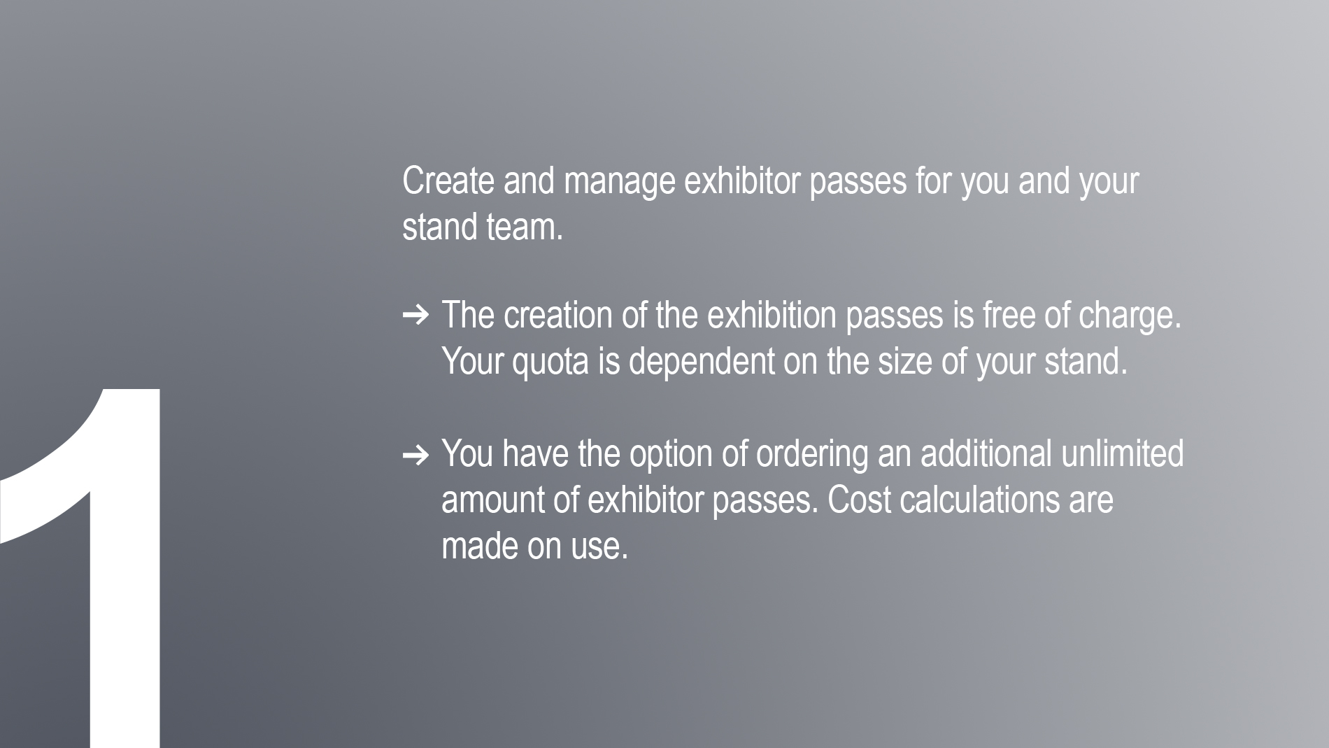 Ticket services for exhibitors