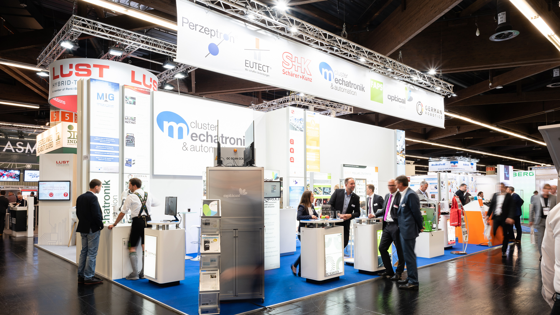 "Special showcase area ""Cluster Mechatronik & Automation"""