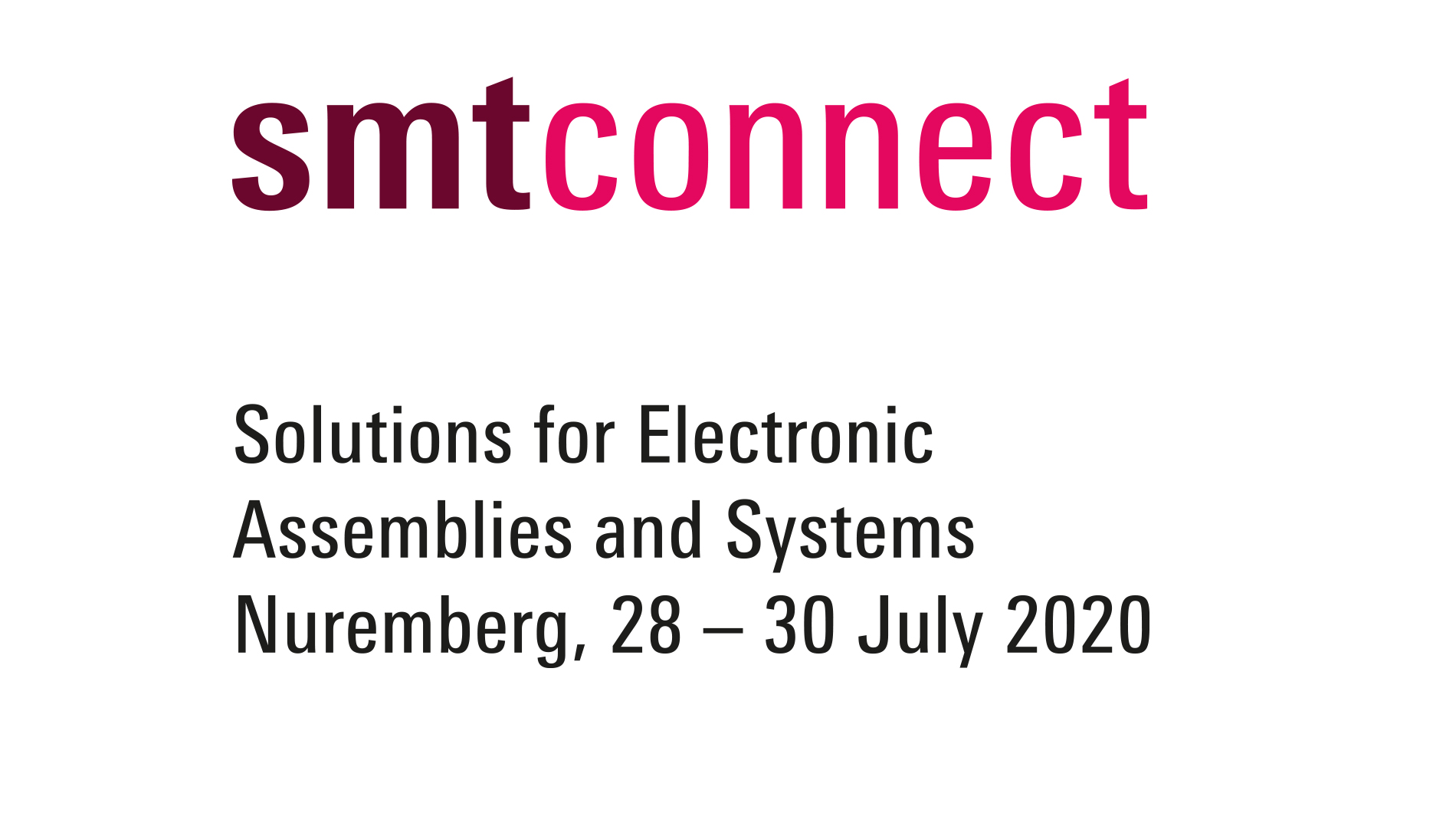 SMTconnect 2020 logo package full version, coloured
