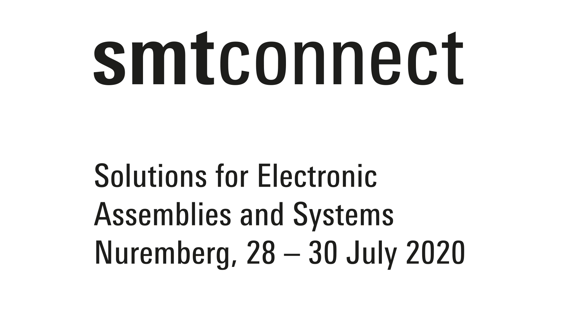 SMTconnect 2020 logo package different versions, black and white